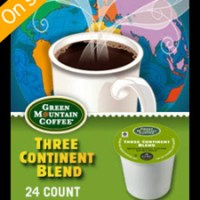 Green Mountain Three Continent Blend K-cups 24 Count For $11.99