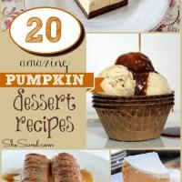 20 Amazing Pumpkin Dessert Recipes