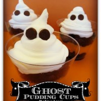 Easy Ghost Pudding Cups Recipe