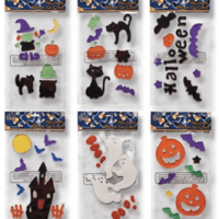 Halloween Window Gel Clings Set of 6 Pkgs For $13.95 Shipped