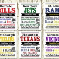 NFL Team Prints For $7.99