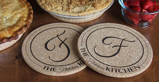 Personalized Kitchen Hot Pads Set Shesaved