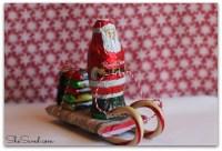 Santa Sleigh made of candy