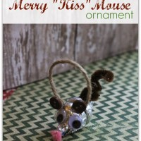 Merry KISS Mouse Hersheys Kiss Ornament Craft