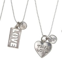 Initial Valentine's Day Charm Necklace For $7.99
