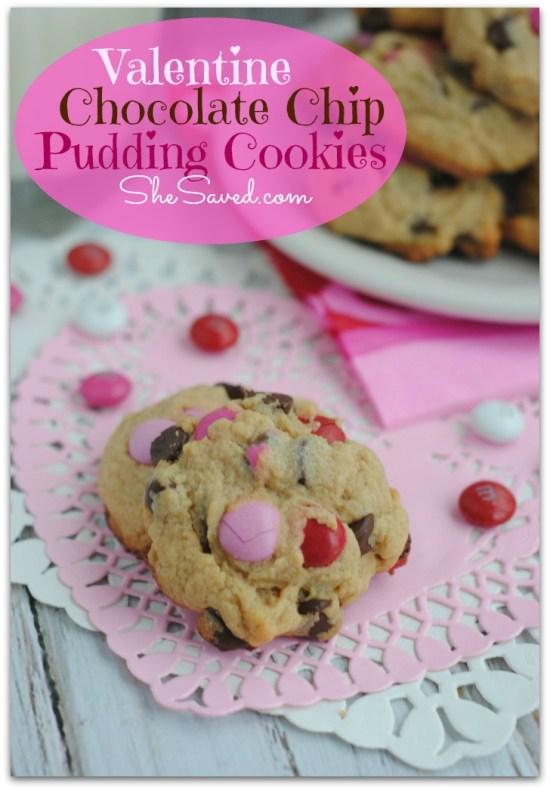 Valentine Pudding Cookie