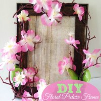 Homemade Mother's Day Gift Idea: DIY Floral Picture Frame