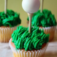 For the Golfer! Golf Cupcakes
