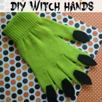 Easy Halloween Project: DIY Witch Hands