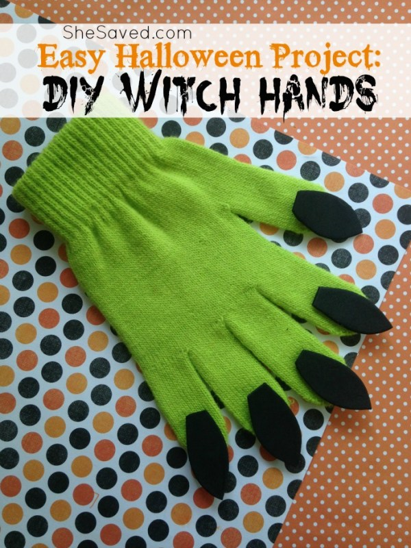 Here's a fun Halloween project for you! These DIY Witch hands are super easy and adorable!