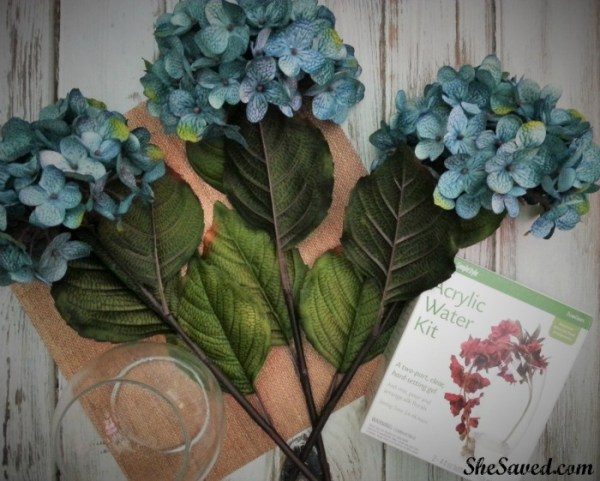 Just a few supplies needed to make these darling DIY floral arrangements!
