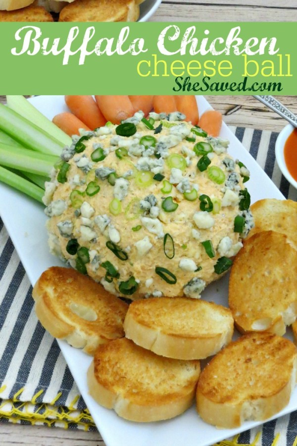 Perfect for the big game, my Buffalo Chicken Cheese Ball recipe will wow your guest and SCORE BIG as a great football party appetizer!