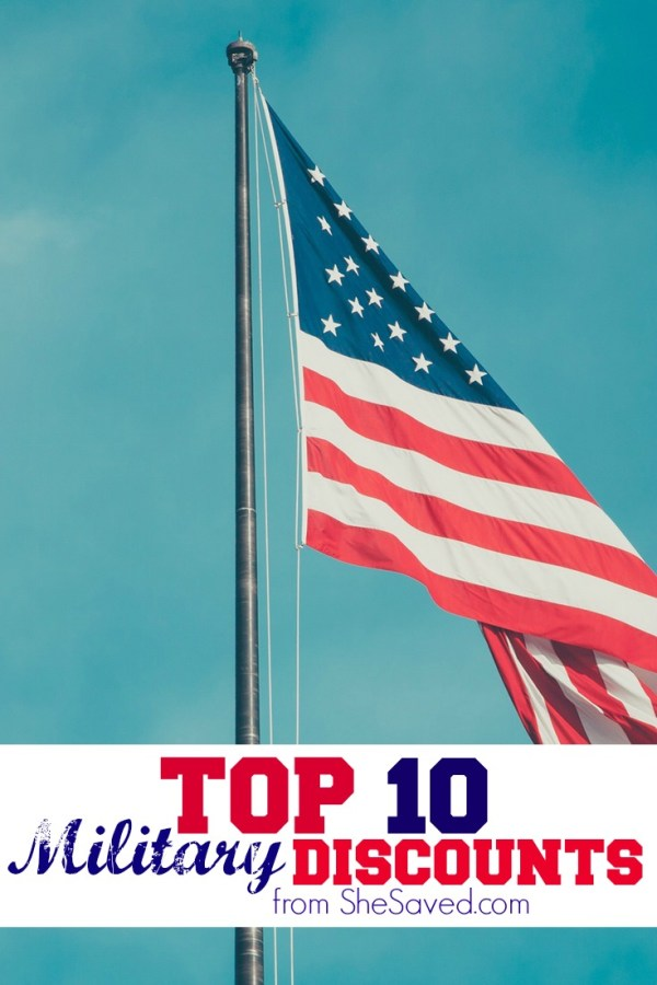 Many businesses appreciate our service men and women and share discounts to save them money! Check out my list of the top 10 Military Discounts!