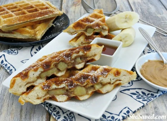 A new twist on breakfast, these Peanut Butter Banana Waffles are so good and easy to make. Your family will love them!