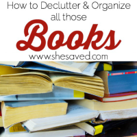 How to Declutter & Organize Books