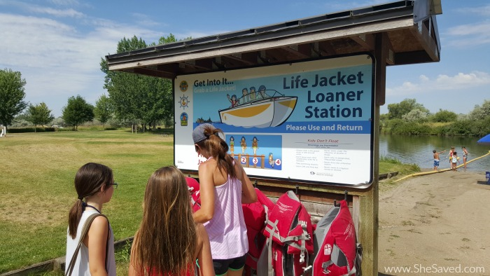 Life jackets are provided at Eagle Island State Park to ensure that everyone has an enjoyable and safe time!