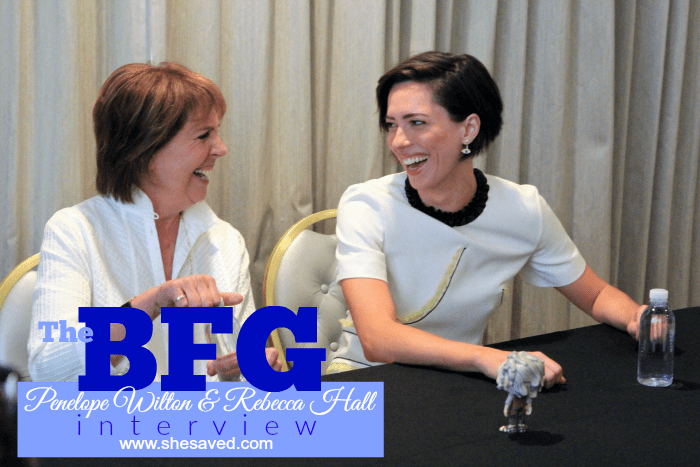 Read my Penelope Wilton Rebecca Hall interview to get the behind the scenes info on filming THE BFG!