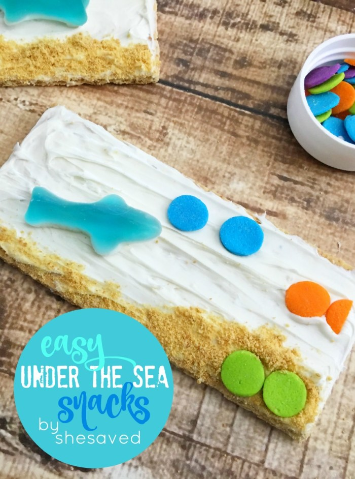 Cute and Easy these under the sea snacks are perfect for little hands, a fun treat to make and really fun to eat!