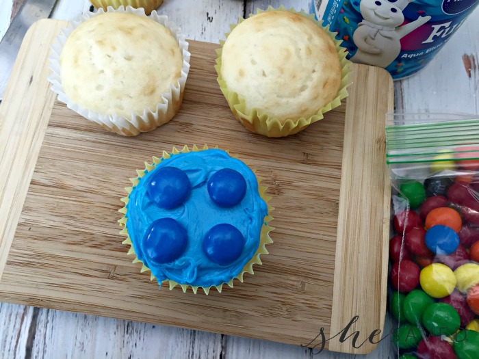Frosting Lego Cupcakes
