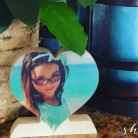 GREAT Father's Day Gift: FREE Custom Wood Photo Heart for Dad (just pay shipping!)