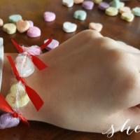 DIY Valentine Candy Heart Bracelets