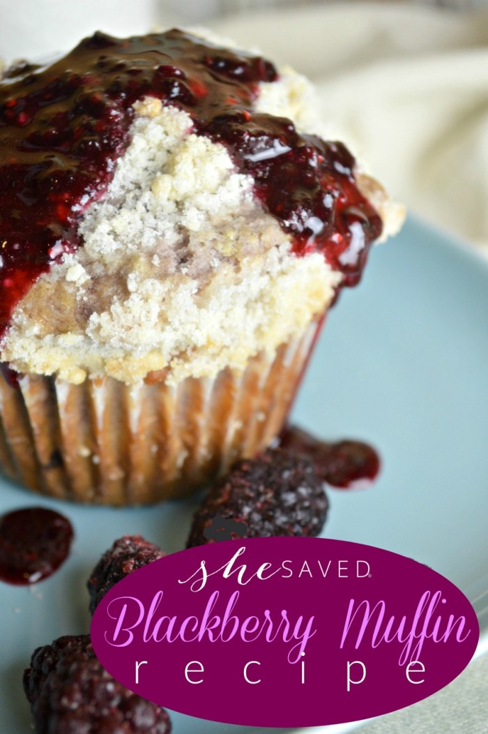 Easy and SO yummy, this Blackberry Muffins Recipe will be a hit with your family and these freeze beautifully!
