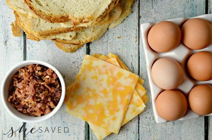 Muffin Tin Breakfast Ingredients