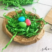 Preschool Easter Project: Paper Bag Easter Nest Craft