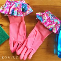 Mother's Day Gift Idea: Homemade Ruffle Cleaning Gloves
