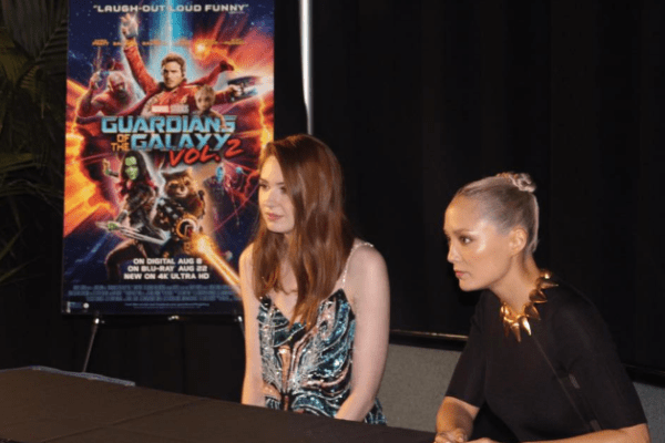 Guardians of the Galaxy Vol. 2: Karen Gillan (Nebula) and Pom Klementieff (Mantis) Interview