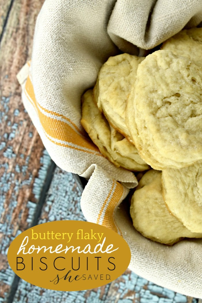 These buttery flaky homemade biscuits are SO good and will become your new favorite!