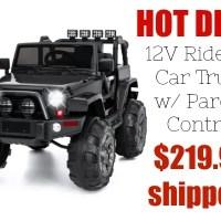 HOT Deal! 12V Ride On Car Truck (over $200 off!)