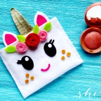 No Sew Felt Project: Unicorn Pouch Craft
