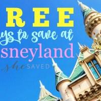 Free Ways to Save at Disneyland