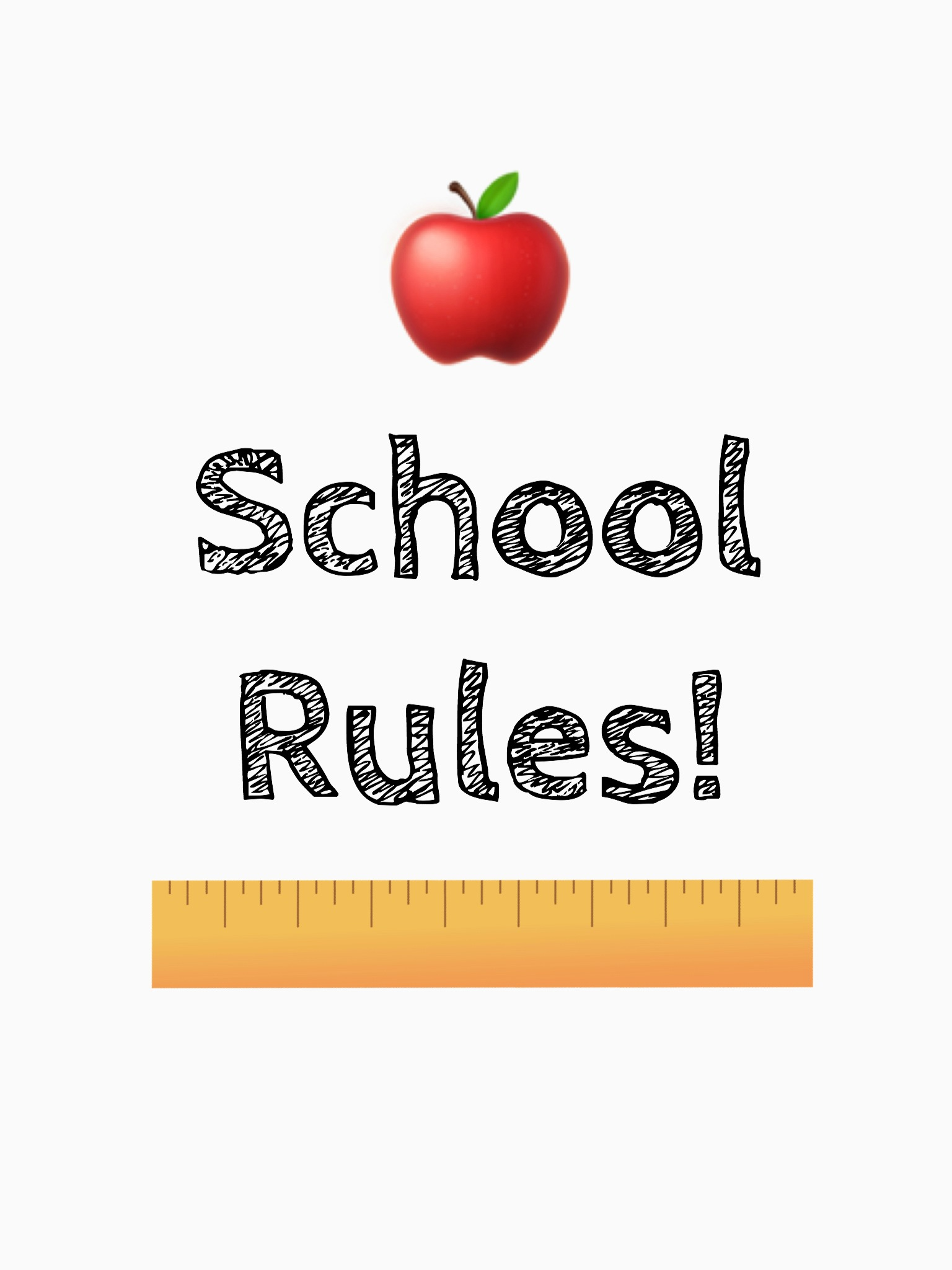 Diy Back To School School Rules Ruler Frame Free