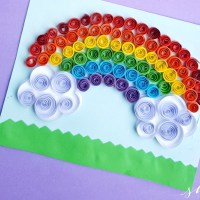 Paper Quilling Project: Quilled Rainbow Craft