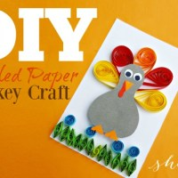 Thanksgiving Paper Quilling Project: Quilled Turkey Craft