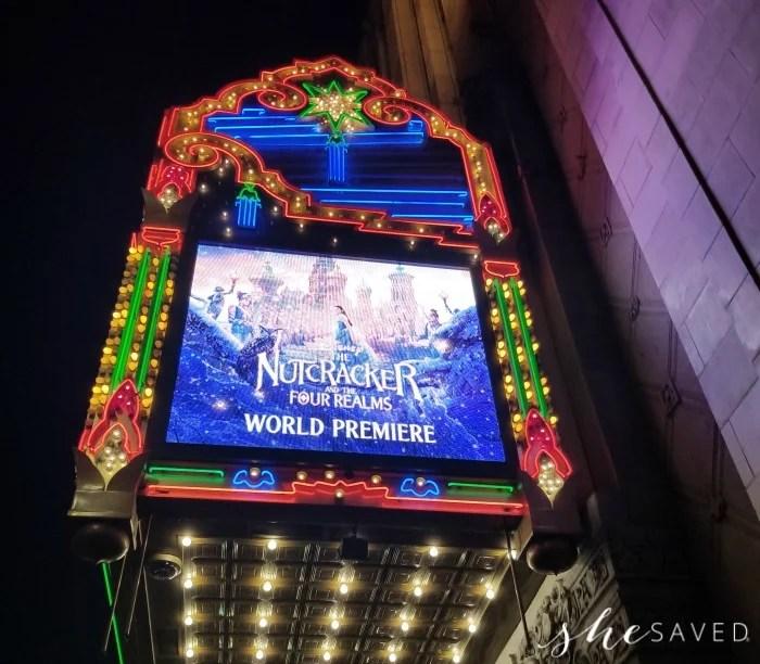 The El Capitan Marquee at The Nutcracker Premiere