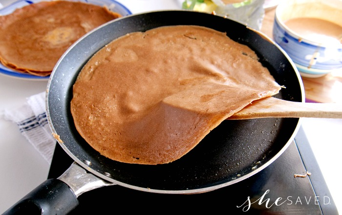 Cooking Chocolate Crepes