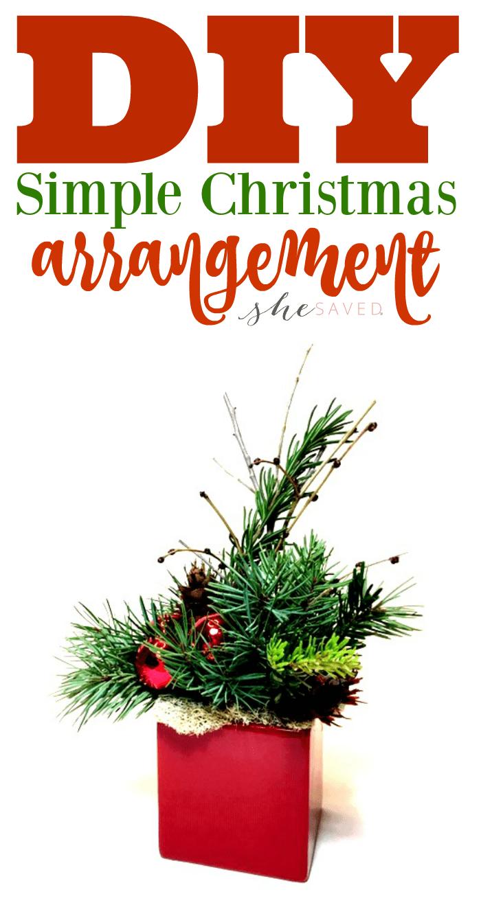 Simple Christmas Arrangement