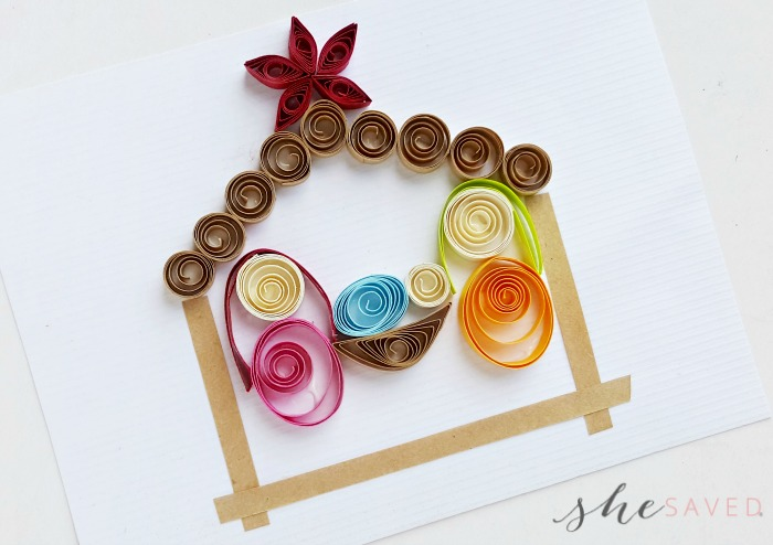 Paper Quilled Nativity Craft