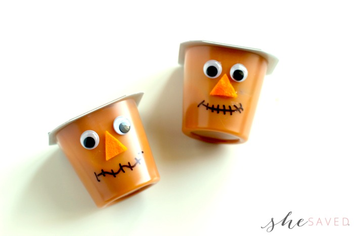 Scarecrow Faces on Pudding