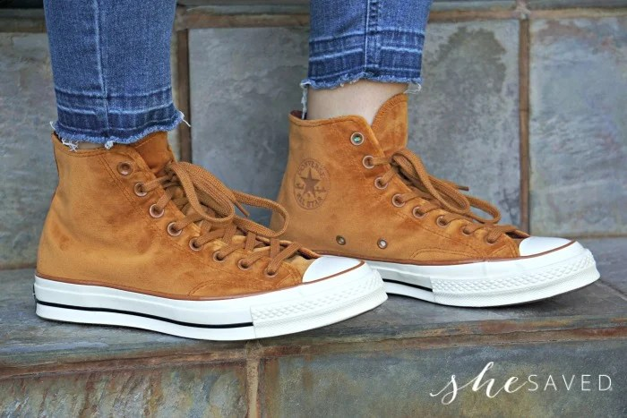 Burnt Orange Converse