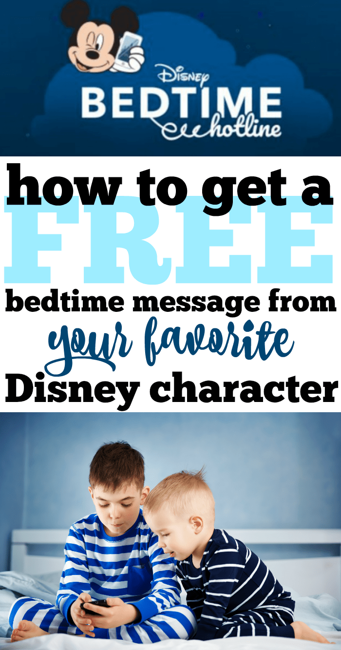 How to get a free bedtime message from disney characters