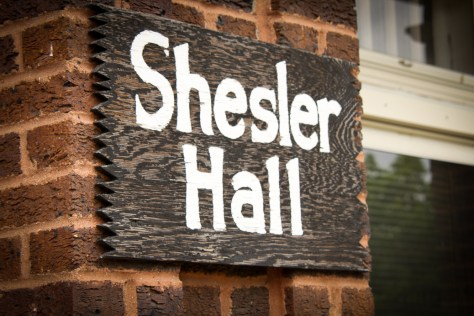 Shesler Hall Sign