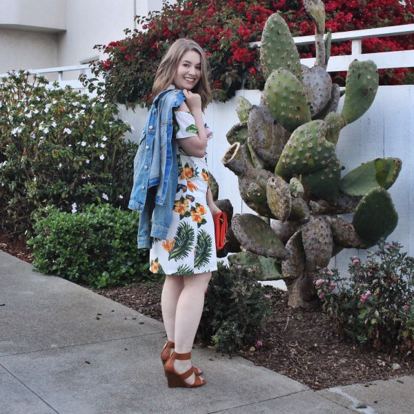 tropical print dress summer style