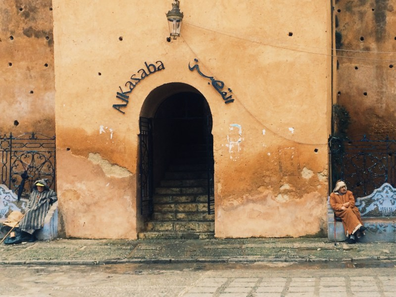 The entrance of the Kasbah is guarded. They require the answer of one riddle upon entrance. That is all.