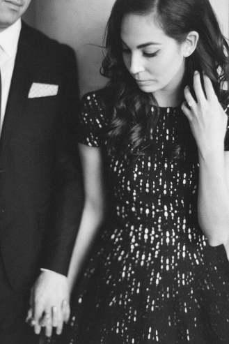Eva in black and white