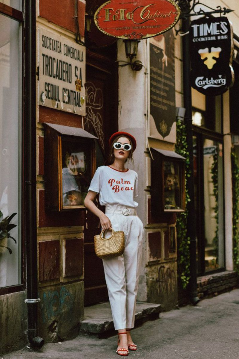 Andreea Birsan | Couturezilla | HERE'S A CHIC AND FRESH WAY TO STYLING YOUR OLD T-SHIRT | She talks Glam | Inspiration