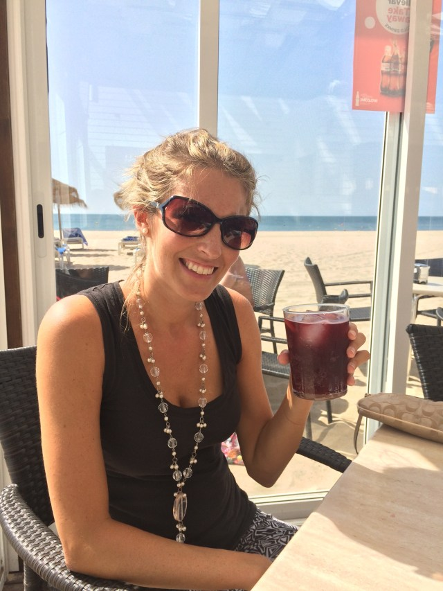 Nothing like a glass of sangria on a sunny beach in Spain